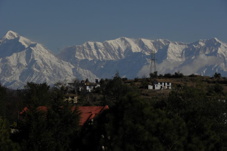 Himalayan View From Yoga Hall