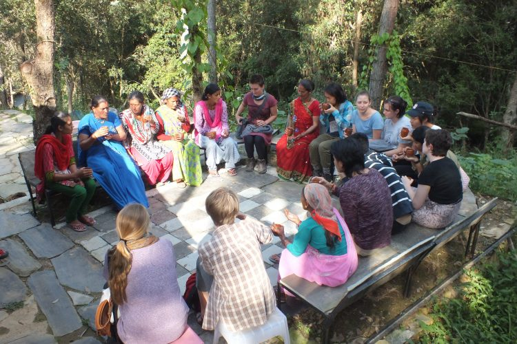 Interaction with village women