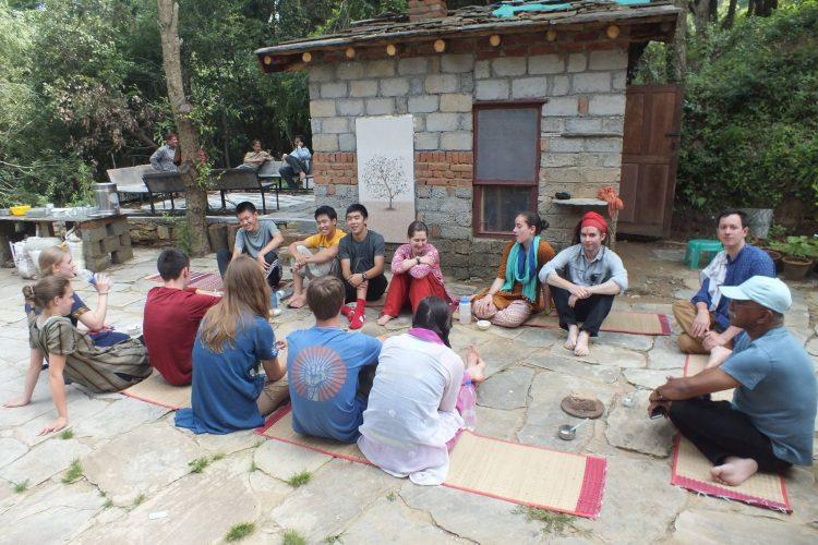 Courtyard chai meeting
