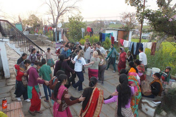 Dancing in village homestay