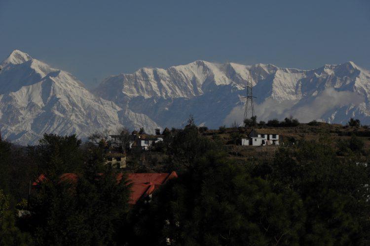 Himalayan View From Yoga Hall