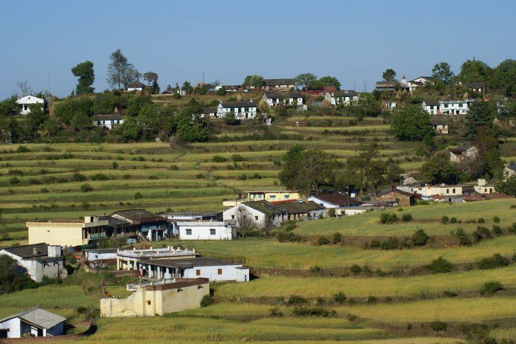 A nearby village.
